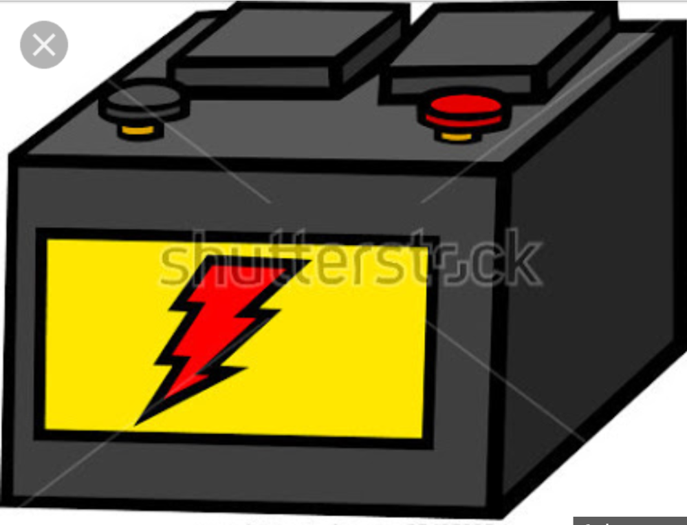 A battery in animation