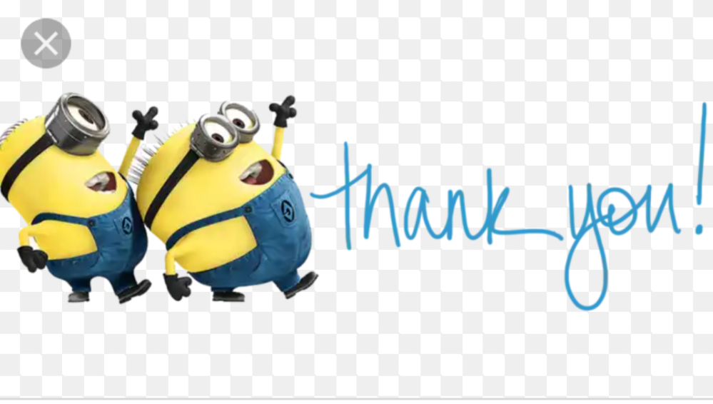 A thank you from the minions