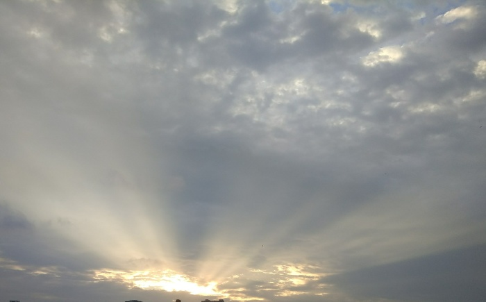 Rays of hope. The silver lining