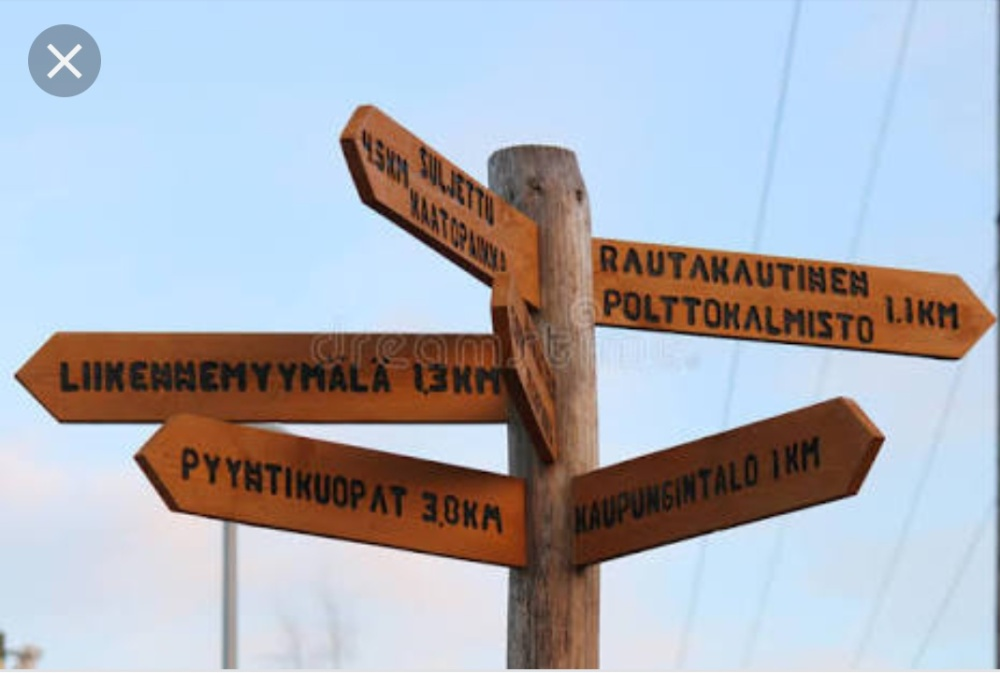A signpost on a crossroad