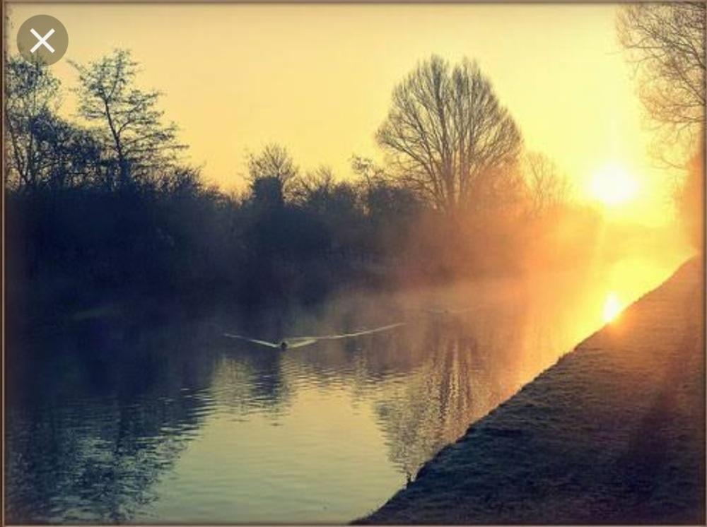 Sunrise at riverside