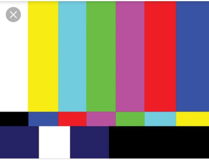 Glitch in a TV