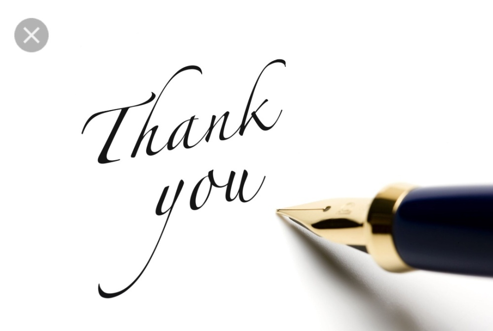 Acknowledging a Thank you note