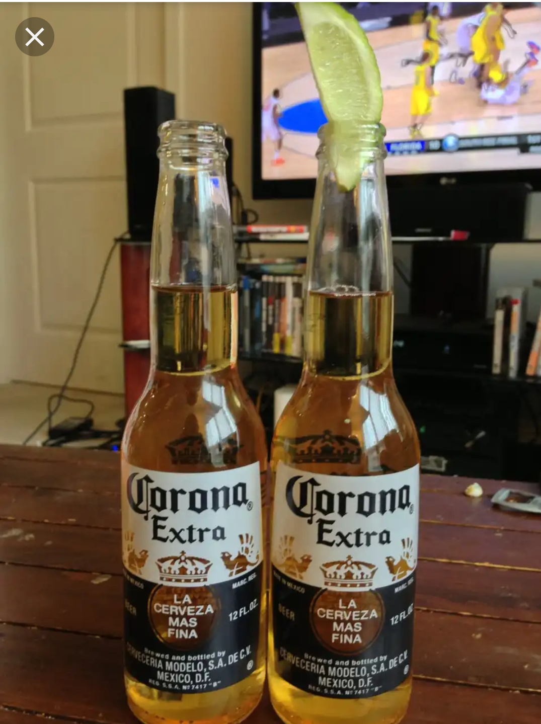 A six pack of Corona beer on a table