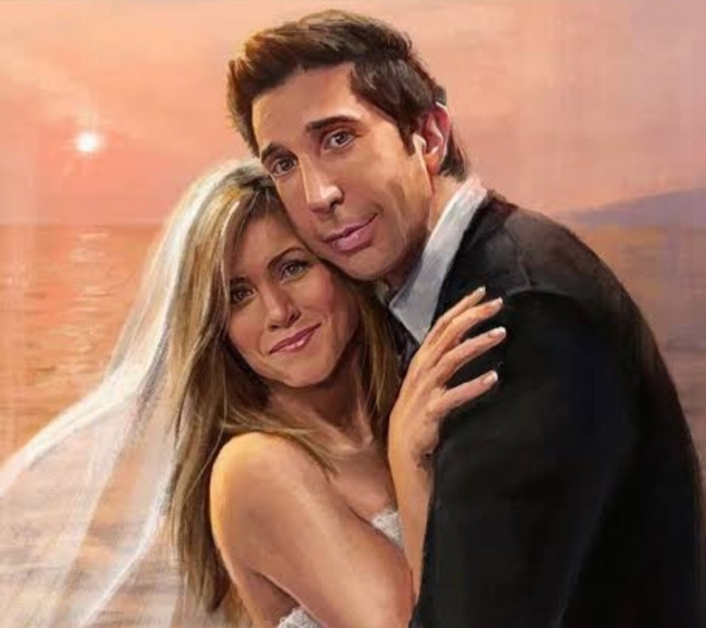 Ross and Rachel engaged married and living happily ever after