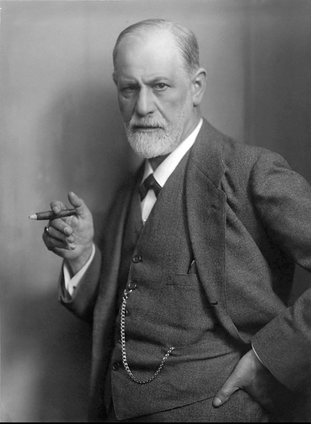 Sigmund Freud black and white photograph potrait