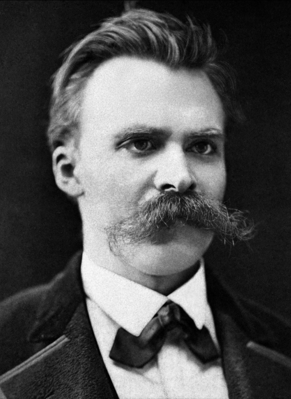 Friedrich Nietzsche Black and white photograph potrait