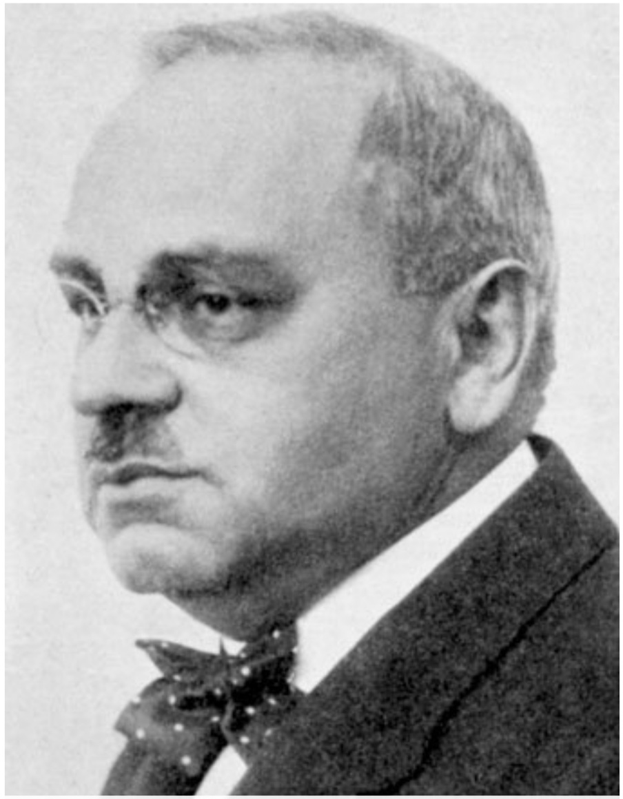 Alfred Adler Black and white photograph potrait